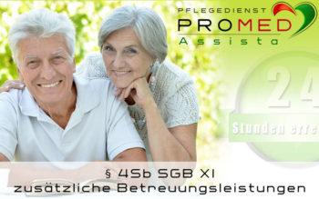 Pflegedienst in Dietzenbach PROMED Assista - zusätzliche Entlastungsleistungen Betreuungsleistungen